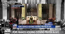 Pope Francis leads evening prayers at St Patricks Cathedral in New York FULL VIDEO