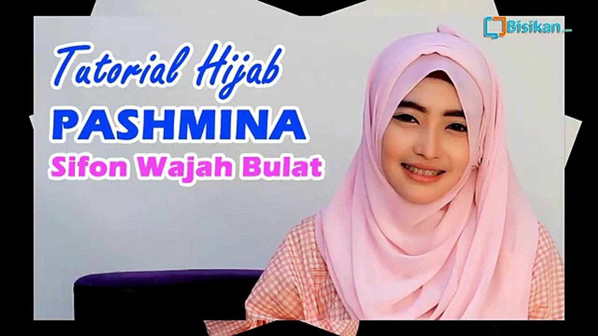 Tutorial Hijab Pashmina Sifon Wajah Bulat Video Dailymotion