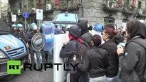 A Naples, de violents affrontements entre des étudiants et la police font plusieurs blessés