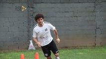 Victor Ferraz treina para voltar ao Santos e manda recado para jogadores