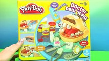 PLAY DOH Doctor Drill 'N Fill - Lightning McQueen! Bad  Cavity Teeth-Braces-Drill HobbyKidsTV