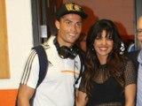 Priyanka Chopra and Cristiano Ronaldo playing soccer with  at Dodger Stadium Los Angeles Real Madrid vs Everton