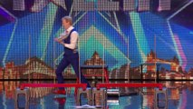 Unseen on screen! Its make or break for David, but hes in a spin! | Britains Got Talent 2015