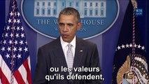 Barack Obama rend hommage à la France, après les attaques de Paris