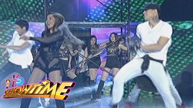 It's Showtime: Zeus and Dawn perform with the Hashtag boys
