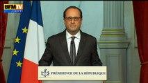 """Attentats de Paris: Hollande dénonce """"un acte de guerre"""" commis par Daesh"""