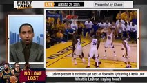 ESPN First Take   LeBron James to Kevin Love and Kyrie Irving on Cavaliers Future