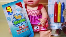 Baby Alive BATH Orbeez COLOR CHANGE Wild & Crazy Baby Bath Tub Fizzies & Crayons