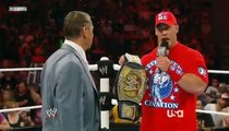 John Cena Makes Vince Re Instate CM Punk Raw 7/4/11