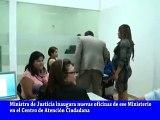 MINISTRA INAUGURA OFICINAS