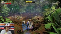 Lets Play LEGO Jurassic World Part 4: RAPTOR SCARE CAM ATTACK! (RESTORE POWER LEVEL GAMEPL