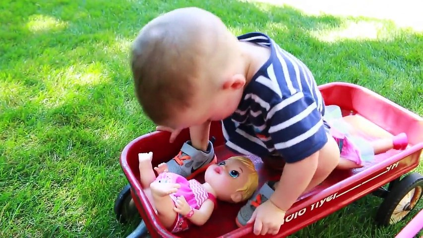 Baby Alive BABY ATTACK 6 Worlds Biggest CRAZY Wild Baby Stroller CRASH Baby Alive Boo Boo