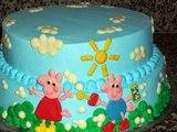 cupcake Bolos Peppa Pig decorados para festa infantil bolo