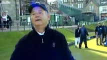 Moron Reporters Annoy Hollywood Star Bill Murray At St Andrews