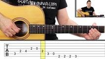 como tocar LOS SIMPSONS en guitarra FACIL Principiantes y novatos acústica o criolla