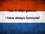 Netherlands National Anthem: Wilhelmus van Nassouwe with Dutch & English Lyrics