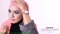 Cara Berjilbab wajah Bulat - Hijab pashmina simple Kreasi Shawlbyvsnow