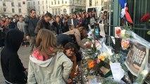 Rassemblement au Mans après les attentats parisiens