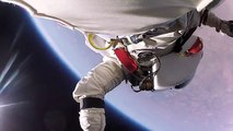 Austrian skydiver and daredevil Felix Baumgartner jumped from 128,100 feet ( about 24 miles up )