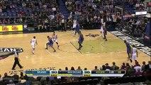 Anthony Davis huge dunk on Glen Davis!