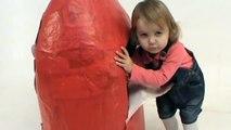 trick Peppa Pig Huge Giant surprise egg unboxing toys Gigantes juguetes unboxing huevo sorpresa