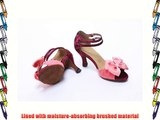 Abby Q-6140 Womens Latin Tango Ballroom Party 3 Flared Heel Dance Shoes Pink UK Size1.5