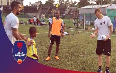John Arne Riise & Florent Malouda surprise a young Kerala Blasters fan