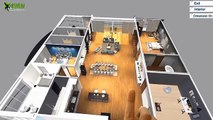 Virtual Reality Floor Plan Design for touch screen , VR Glasses & Cardboard , VR Experience