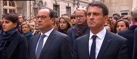 Une minute de silence en hommage aux victimes des attentats de Paris