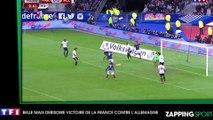 Un footballeur italien marque et pleure dans un drapeau Français