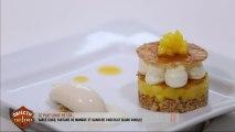Le plat de Léa: sablé coco, tartare de mangue et ganache chocolat blanc, vanille