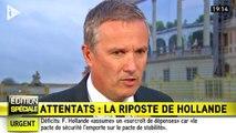 """Nicolas Dupont-Aignan évoque des """"demi-mesures"""" après les discours de François Hollande"""
