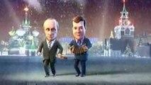Vladimir Putin And Dmitry Medvedev Dance 2010 New Year Cartoon Duet (TV Show) english subt