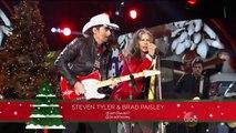Steven Tyler & Brad Paisley Run run Rudolph CMA Country Christmas 2014