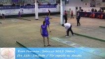 Qualifications, tir rapide en double, Sport Boules, Euro Féminin, Saluzzo 2015
