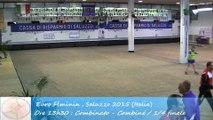 Quarts de finale, combiné, Sport Boules, Euro Féminin, Saluzzo 2015