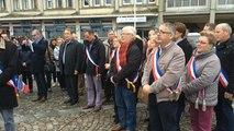 Rassemblement à Falaise après les attentats de Paris
