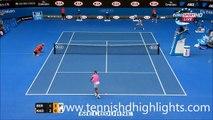 Rafael Nadal AMAZING POINT vs Tomas Berdych Australian Open 2015 QuarterFinals Highlights