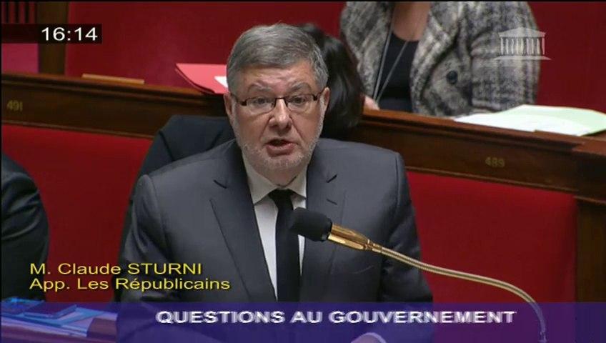 Déraillement d'une rame d'essai TGV : A. Vidalies répond à une question au gouvernement