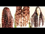 No heat Straw Curls 3rd Method- Heatless Hollywood Waves Inspired to Soft Loose Waves