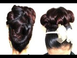 Elegant Big bun Updo for Prom/ Wedding Updo No heat hairstyle