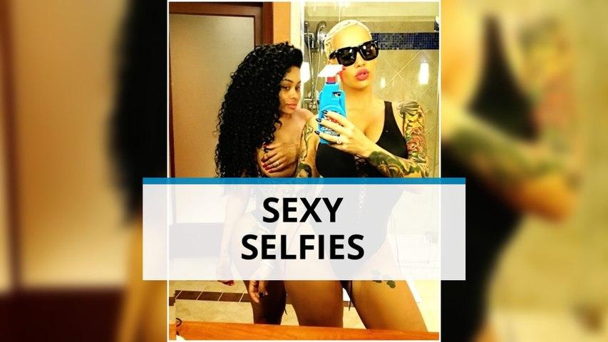 Amber Rose and Blac Chyna take a sexy selfie break