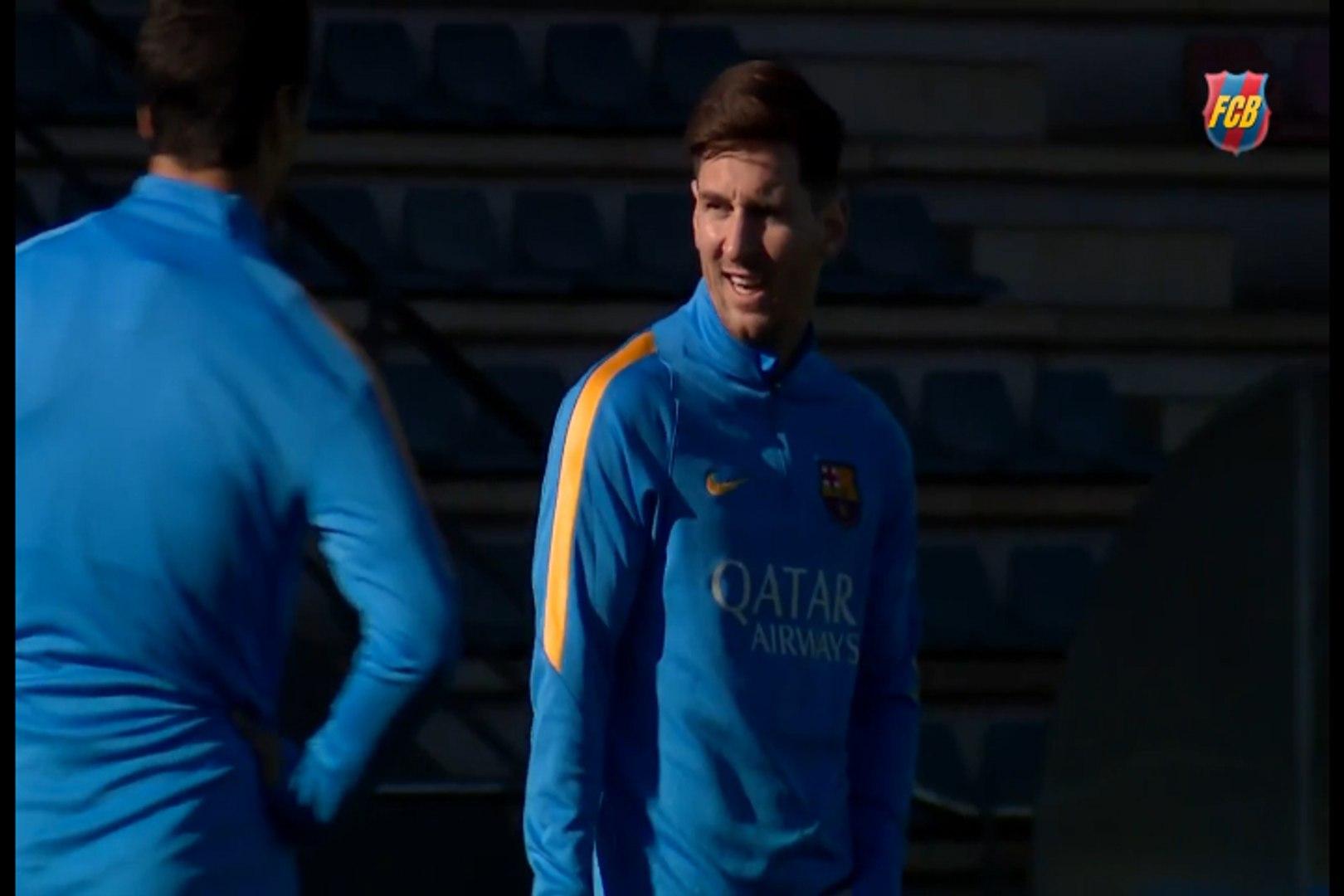 Messi participa de treino do Barça e aumenta chance de enfrentar o Real