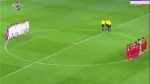 Turkish fans Chant and Whistle During Minute's Silence For Victims of Paris Attacks 2015