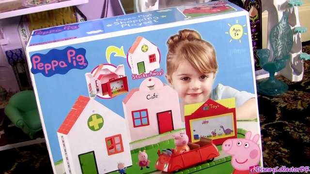 Peppa Pig Shopping Playset Peppa Driving Car to Bakery Shop & Toy Store Review by FunToys