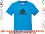 Adidas Essentials Boys' Logo T-Shirt Blue Blue Bleu (Solblu/Noir) Size:FR : 11-12 ans (Taille
