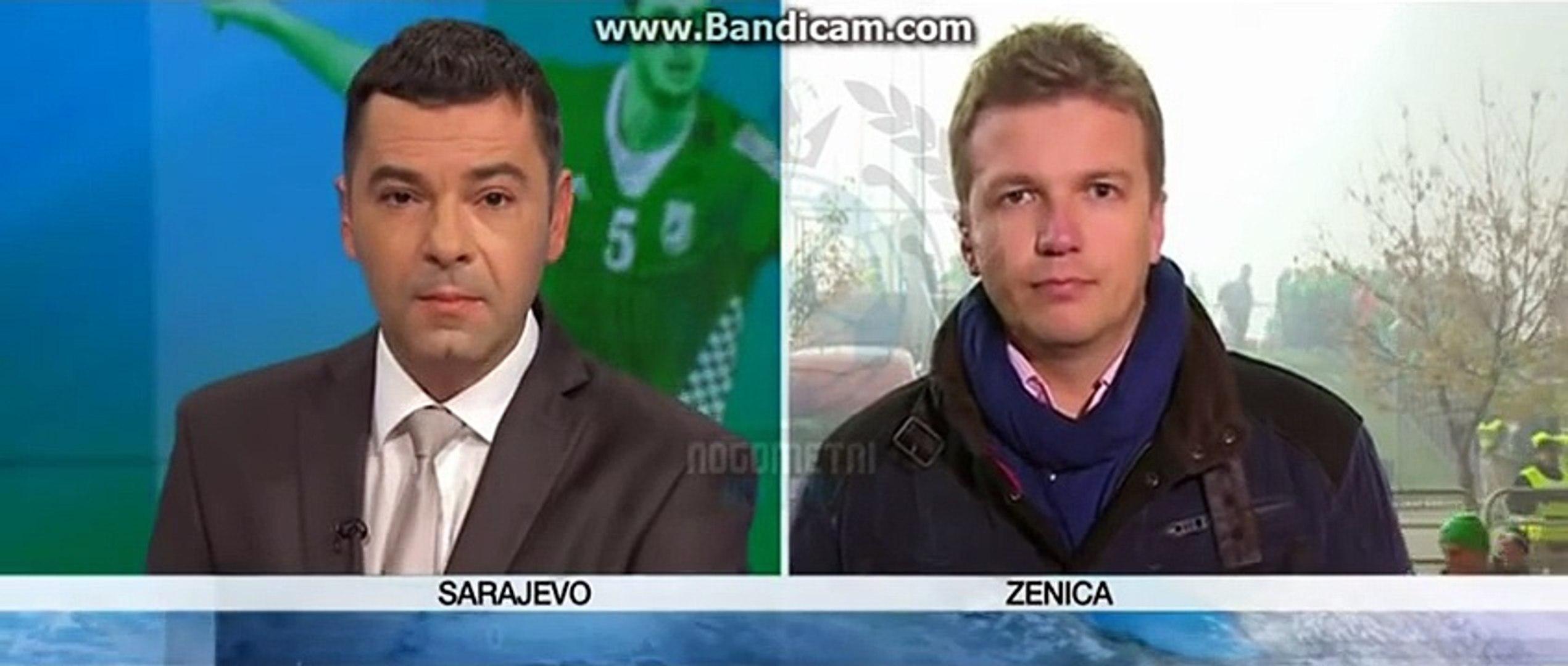 Un journaliste Bosnian reste calme face aux fans de Football Irlandais