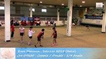 Quarts de finale, Double, Sport Boules, Euro Féminin, Saluzzo 2015