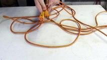 Life Hack: No tangles, no knots, extension cord storage
