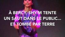 À Bercy, Shy'm tente un saut dans le public... et termine par terre